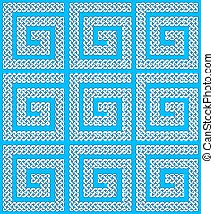 A seamless Celtic knots pattern