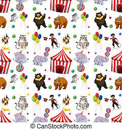 A Seamless circus pattern