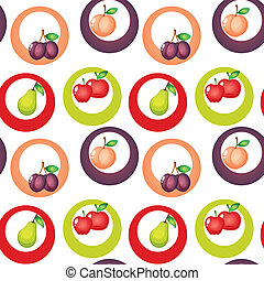 A seamless design with fruits
