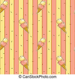 A seamless design with icecreams