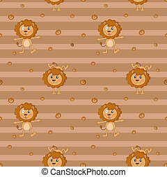 A seamless design with lions