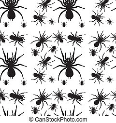 A seamless design with spiders