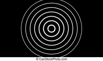 A Seamless Looping Black and White Target Background Hd