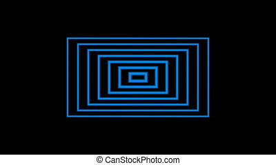 A Seamless Looping Blue square Target Background