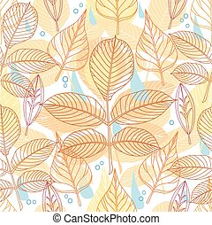 A seamless pattern with autumn leav
