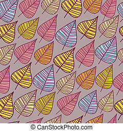 A seamless pattern with leaf.
