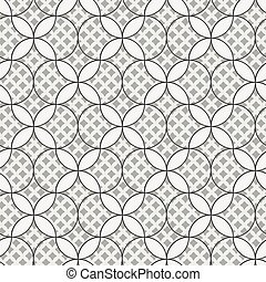 seamless vector pattern with geometric abstract ornament in grey colors