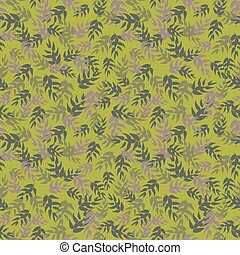 seamless vector pattern with green tea leaves