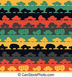 seamless vector stripes pattern with colorful cars