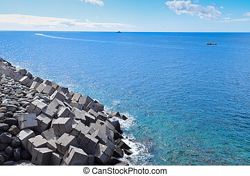 A Seascape in Gran Canaria without People.