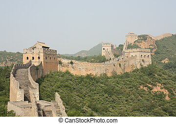 A section of The Great Wall of China, in Jinshanling