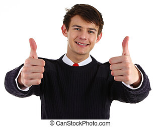 security guard with a thumbs up