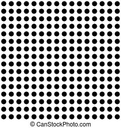 Seemless Black and White Spotted Background - A Seemless...