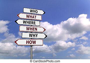 a, seis, ws, signpost