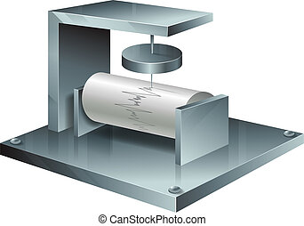 A seismograph - Illustration of a seismograph