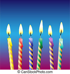 Candles - A Selection of Colored Party Candles