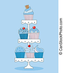 A selection of delicious cupcakes. - A selection of...