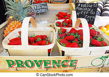 Marseille, France - A selection of fresh fruit and ...