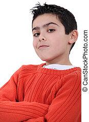 A self-assured boy