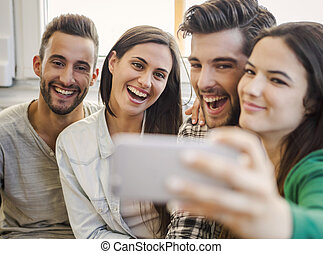 A selfie with friends
