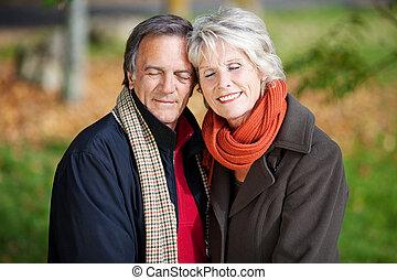 A Senior couple enjoying togetherness