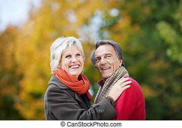 A Senior Couple Posing