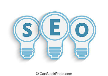seo concept with bulb and gears - a seo concept with bulb...