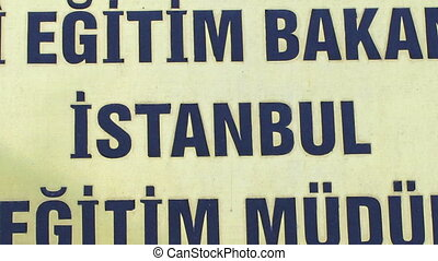 a sequences of different found images of the word istanbul,...
