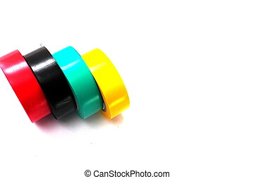 a series of electrical tape