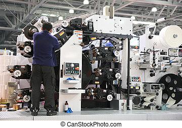a, serviço, pessoal, de, impresso, equipamento