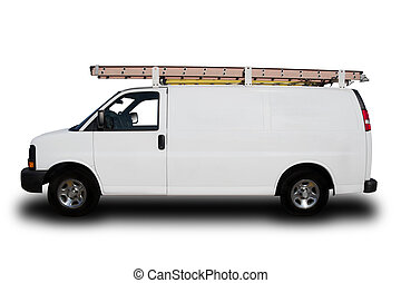Service Repair Van - A Service Repair Van Isolated on White