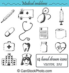A set 14 medical icons