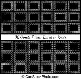 36 ornate rectangular frames