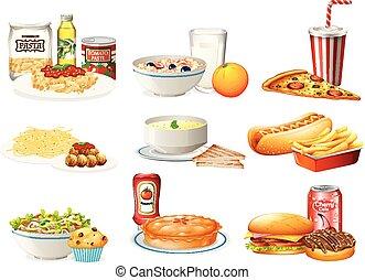 A Set of American Food