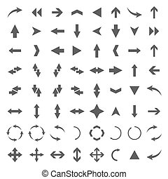 A set of arrows, vector