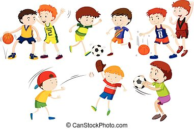 A set of athlete