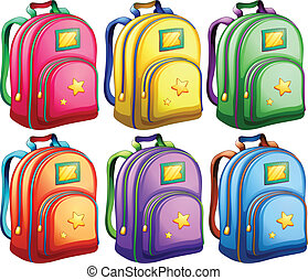 A set of backpacks