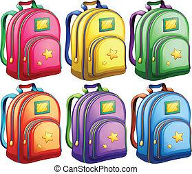 A set of backpacks