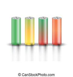 A set of batteries, vector
