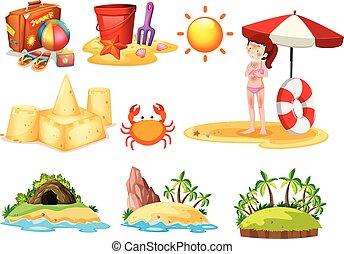 A Set of Beach Element