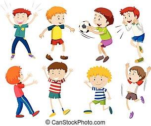 A set of boy activities