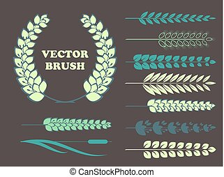 a set of brushes in the form of wheat for your design. Vector
