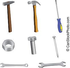 A set of building tools