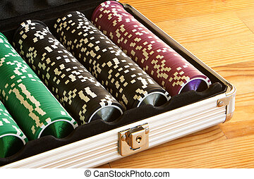 A set of casino chips