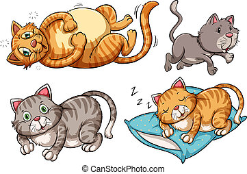 A set of cat character