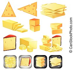 A set of cheese