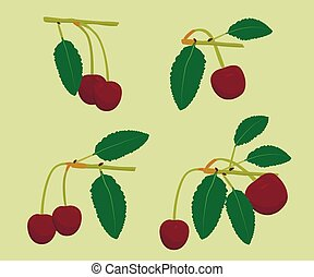 A set of cherries