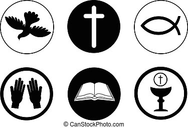 Christianity icons and symbols