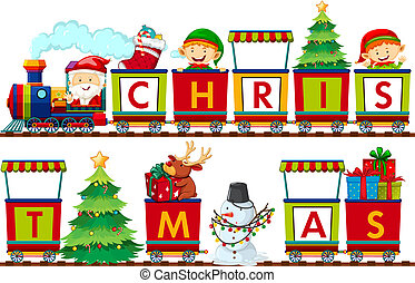A set of Christmas elements