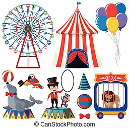 A Set of Circus Animal Show
